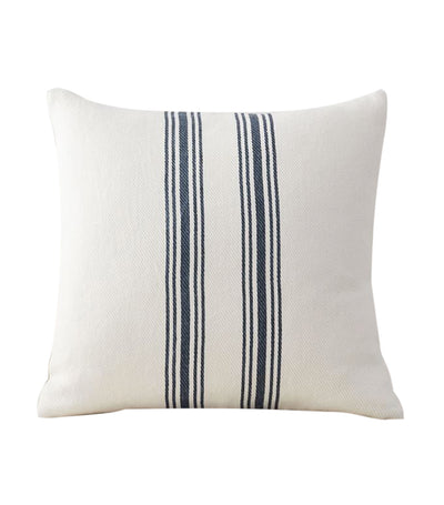 pottery barn culver storm blue grainsack striped reversible pillow cover