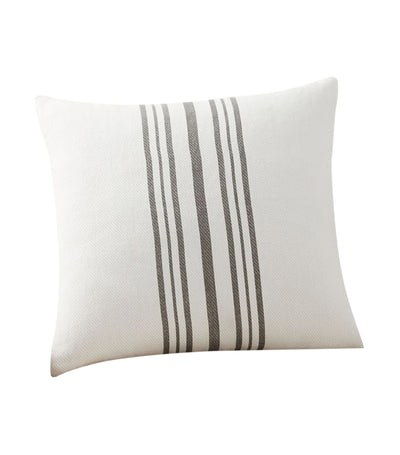pottery barn culver gray grainsack striped reversible pillow cover