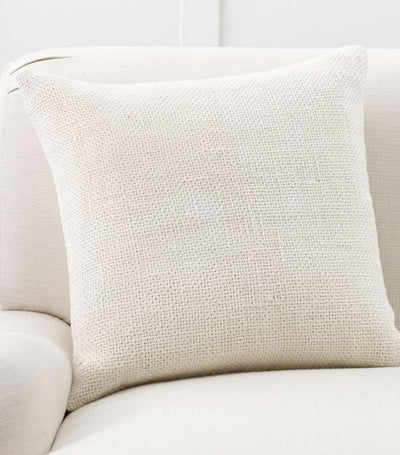 pottery barn faye ivory linen textured pillow cover