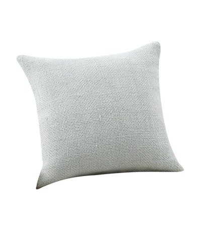 pottery barn faye icey blue linen textured pillow cover