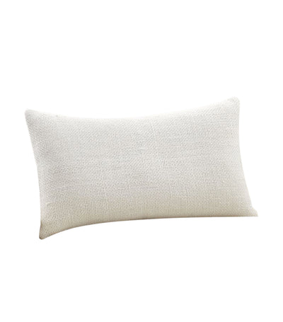 pottery barn faye linen textured lumbar pillow cover