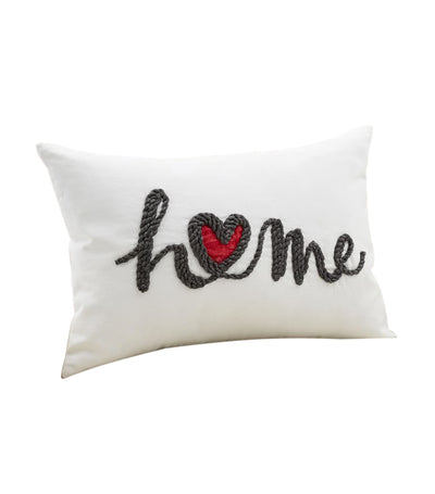 pottery barn home heart embroidered lumbar pillow cover