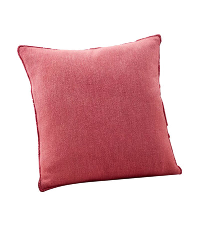 pottery barn willa strawberry textured fringe pillow cover