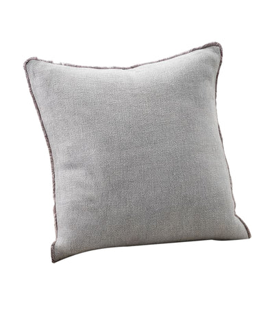pottery barn willa gray textured fringe pillow cover