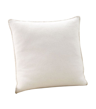 pottery barn willa off white textured fringe pillow cover
