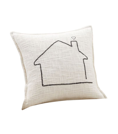 pottery barn family home embroidered pillow cover