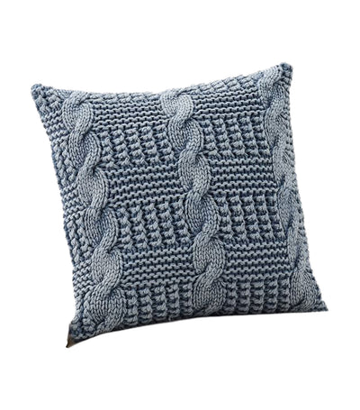 pottery barn stonewash chunky knit pillow cover