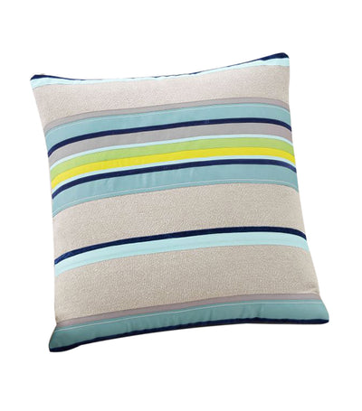 pottery barn velvet ribbon striped pillow cover
