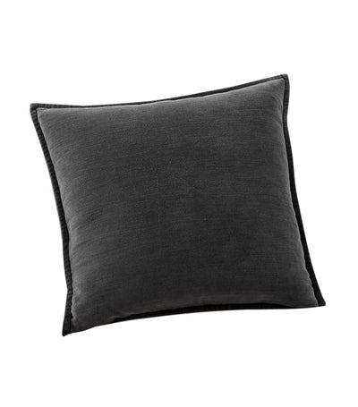 pottery barn ebony washed velvet pillow cover