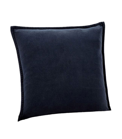 pottery barn midnight blue washed velvet pillow cover