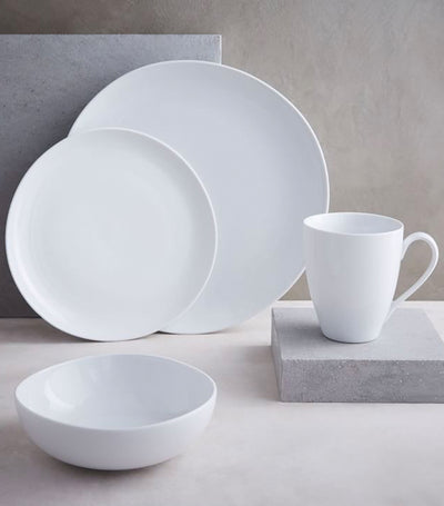 Organic Shaped Porcelain Dinnerware Collection