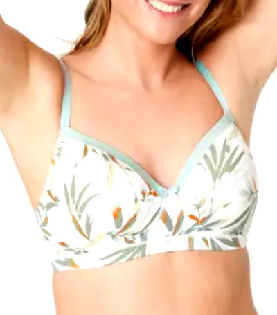 marks and spencer sumptuously soft full cup t-shirt bra - light green mix
