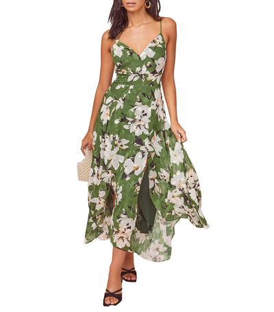 Lyric Floral Maxi Dress Emerald Multi Floral