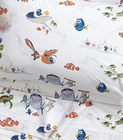 pottery barn kids disney and pixar finding nemo sheet set