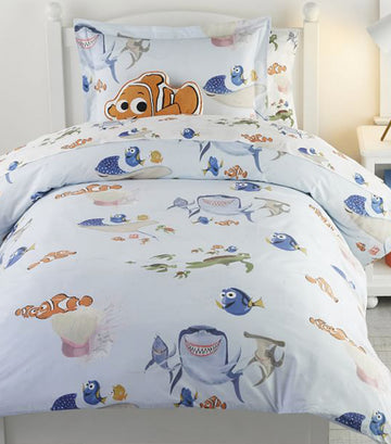 pottery barn kids disney and pixar finding nemo duvet cover - full/queen