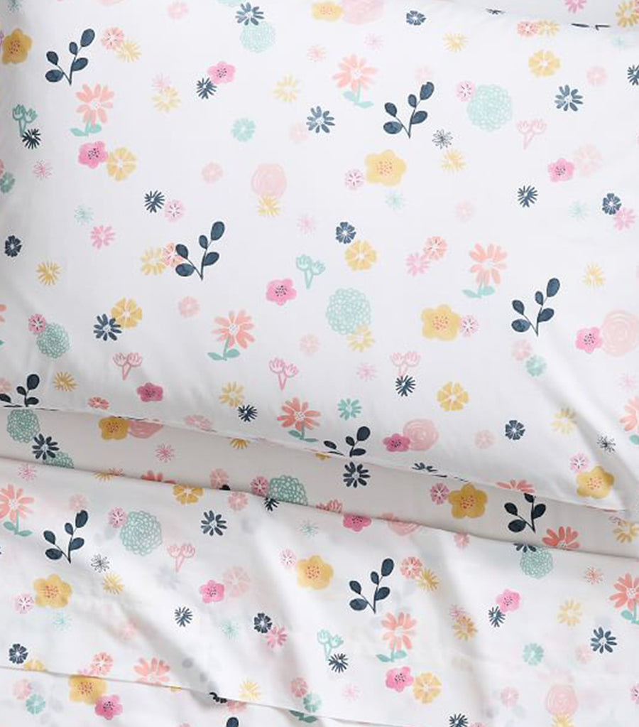 pottery barn kids organic sasha's meadow sheet set