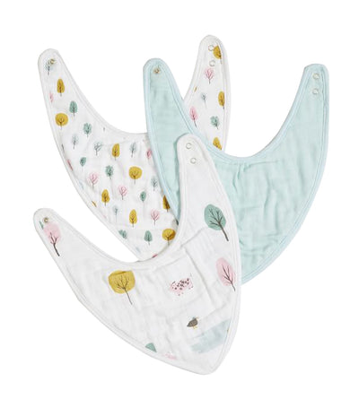 pottery barn kids organic dakota muslin drool bib set