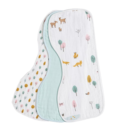 pottery barn kids organic dakota muslin burp cloth set