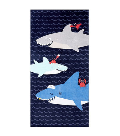 pottery barn kids sharks beach towel