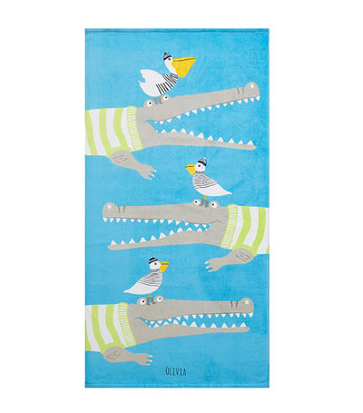pottery barn kids alligator kid beach towel