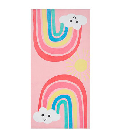 pottery barn kids happy rainbows kid beach towel
