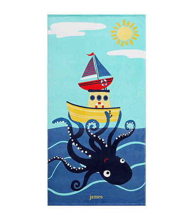 pottery barn kids octo kid beach towel