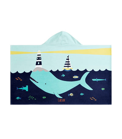 pottery barn kids whale kid beach hooded towel