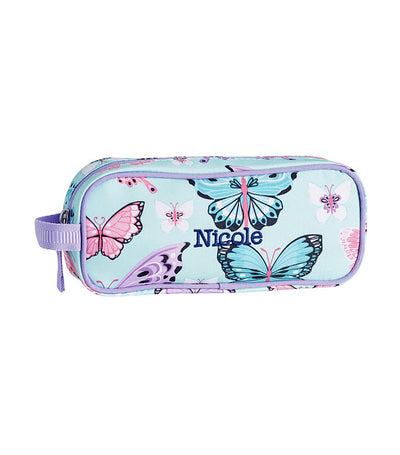 pottery barn kids mackenzie aqua lavender pretty butterflies pencil case