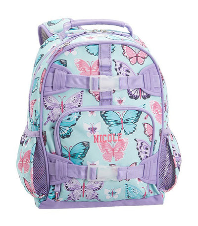 pottery barn kids mackenzie aqua lavender pretty butterflies small backpacks