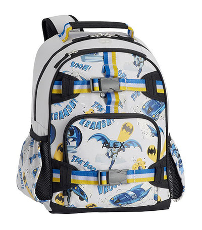 pottery barn kids mackenzie BATMAN™ glow-in-the-dark small backpack