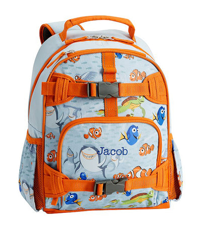 pottery barn kids mackenzie disney and pixar finding nemo glow-in-the-dark backpack - small