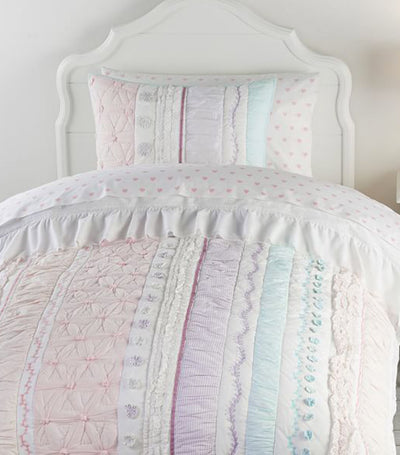 pottery barn kids bailey ruffle reversible quilt
