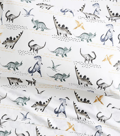 pottery barn kids organic jurassic sheet set