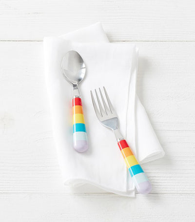 pottery barn kids rainbow utensils