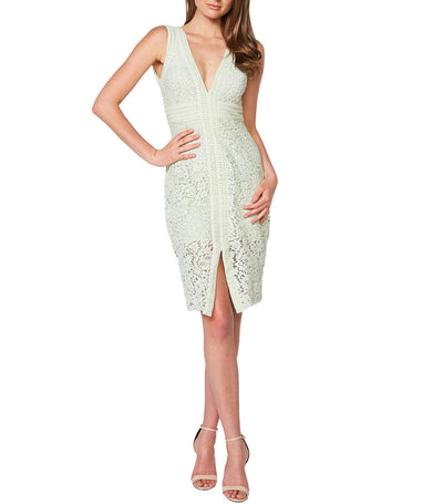 Halter Lace Dress Pistachio