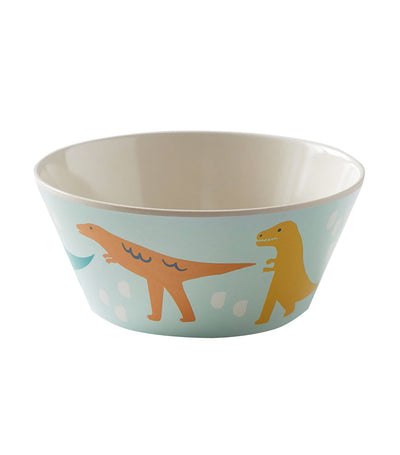 pottery barn kids bamboo dinosaur friends bowl