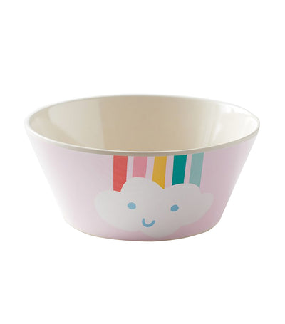 pottery barn kids bamboo rainbow bowl