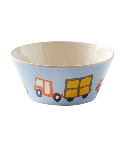 pottery barn kids bamboo transportation bowl