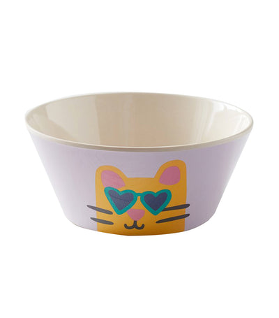 pottery barn kids bamboo cool cat bowl