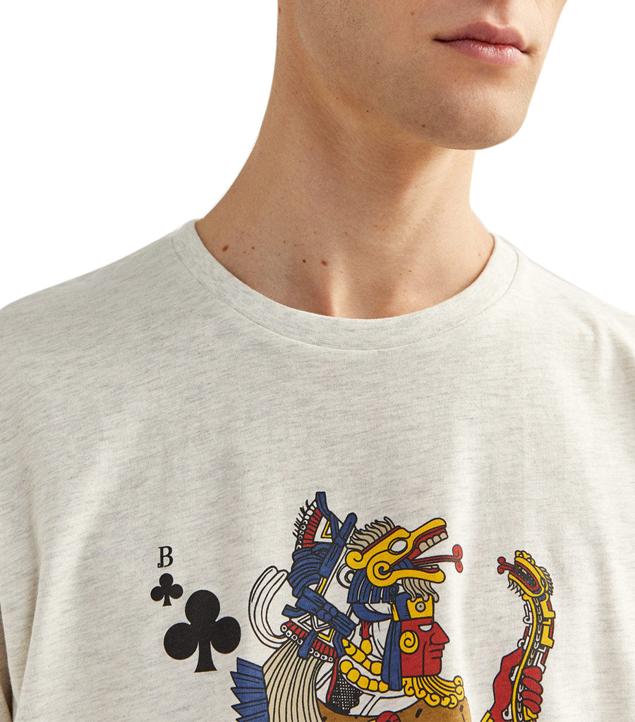 Short-Sleeved Playing Cards T-Shirt Gray