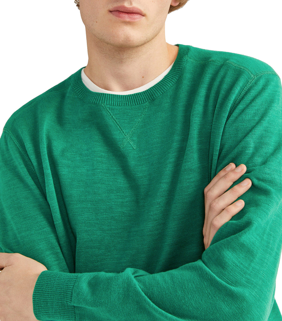 Slub Sweater Green