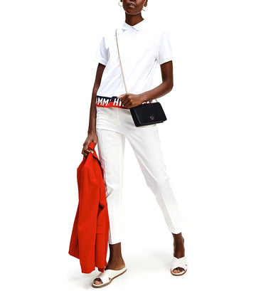 Khloe Relaxed Fit Polo Shirt White