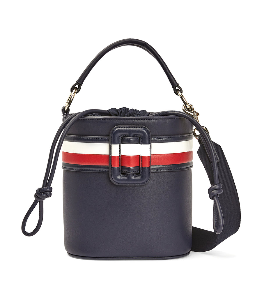Signature Buckle Bucket Bag Sky Captain