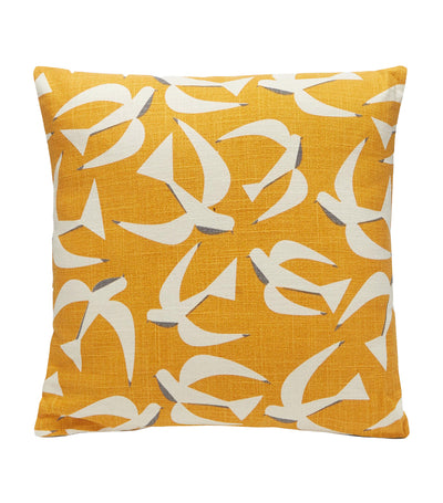 Debenhams Bird Print Cushion - Yellow