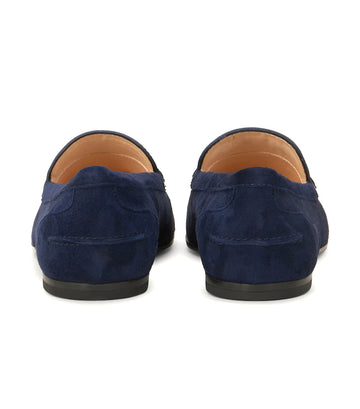 Loafers in Suede Blue