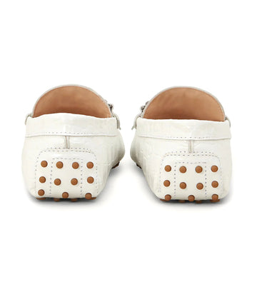 City Gommino Driving Shoes in Leather White