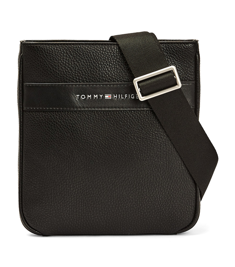 TH Modern Small Textured Crossover Bag Black