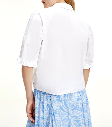 Pure Cotton Half Sleeve Shirt Optic White