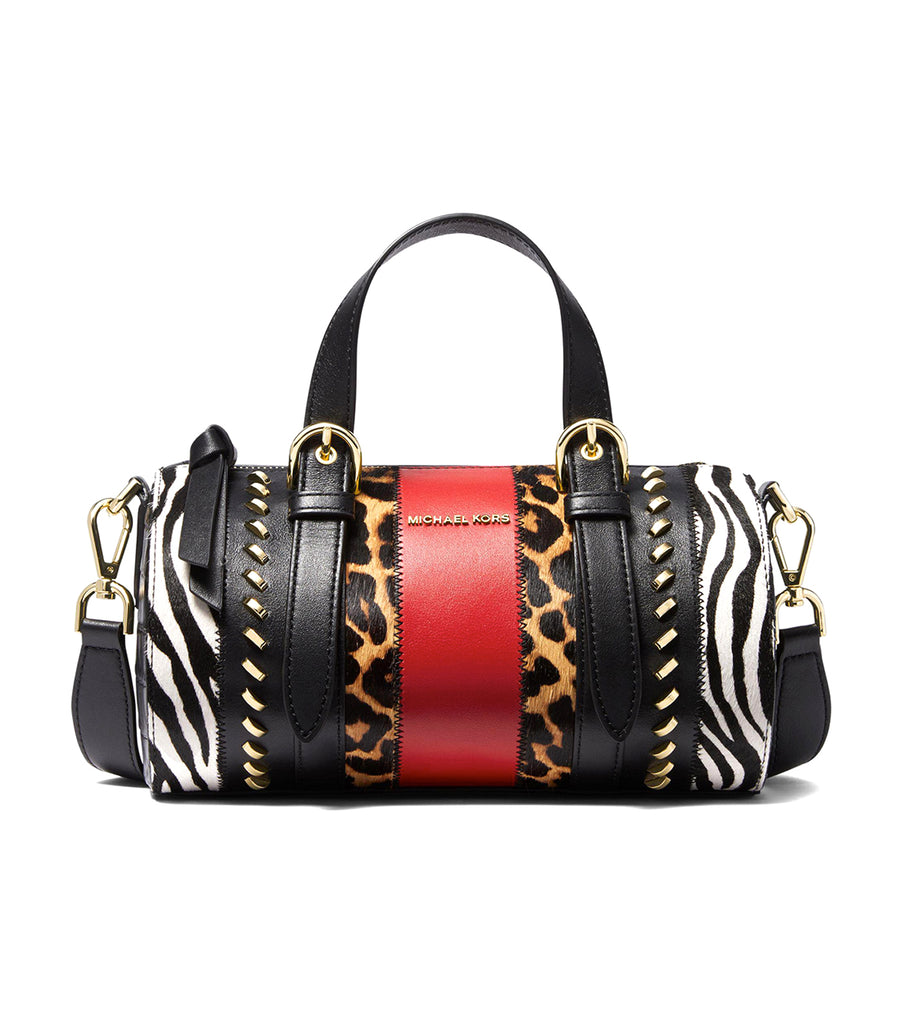 Stanton Medium Animal Pattern Panel Messenger Black Multi