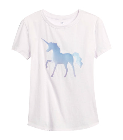 gap kids white lilac interactive graphic t-shirt